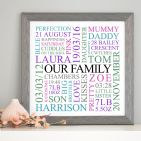 Personalised 'Our Family' Art